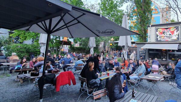 Gut besucht: Katys Biergarten