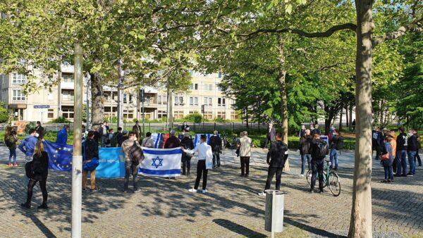 Solidarität mit Israel - Demonstration der Dresdner FDP