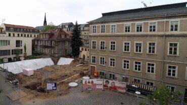 Baustelle für das neue Ärztehaus