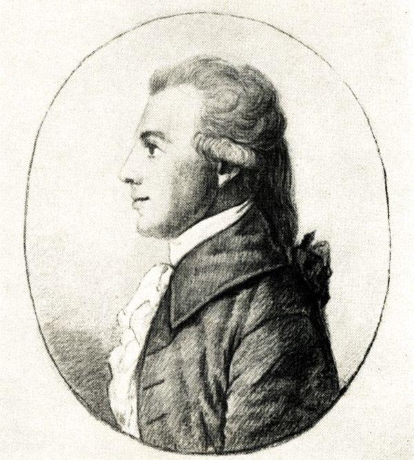 Christian Gottfried Körner, Silberstiftzeichnung von Dora Stock