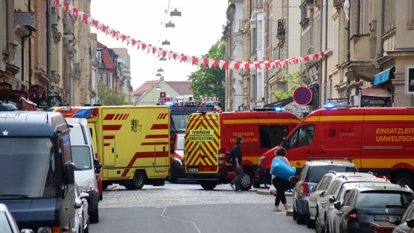 Für eine knappe halbe Stunde war die Louisenstraße gesperrt.