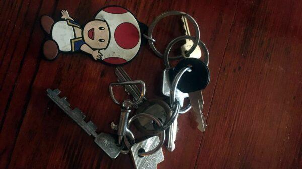Auf der Alaunstraße gefundener Schlüssel