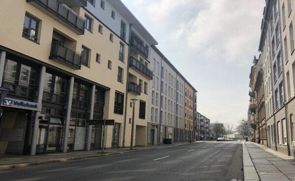 Blick in die Weintraubenstraße, Foto: L. Ludwig