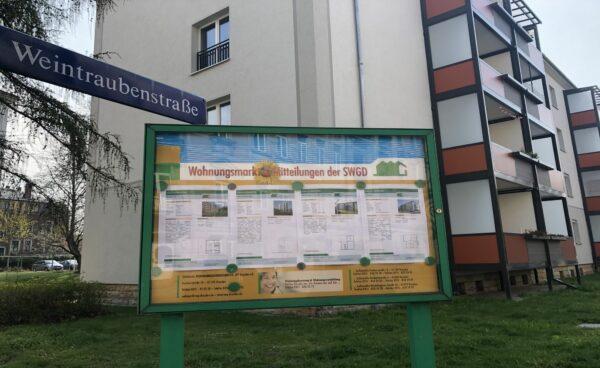 Miethäuser dominieren das Straßenbild der Weintraubenstraße, Foto: L. Ludwig