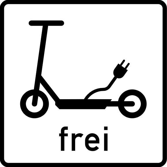Zusatzschild Elektrokleinstfahrzeuge frei