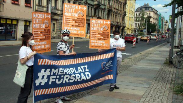 ADFC-Demo an der Bautzner Straße