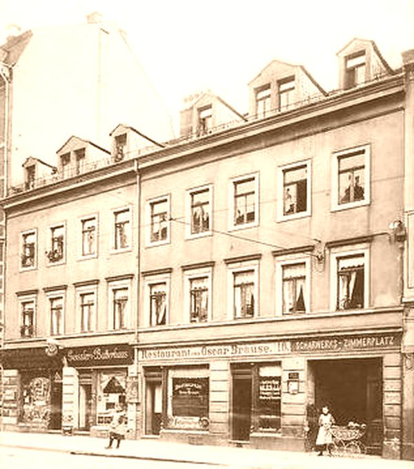 Restaurant Oscar Brause - Postkarte um 1900