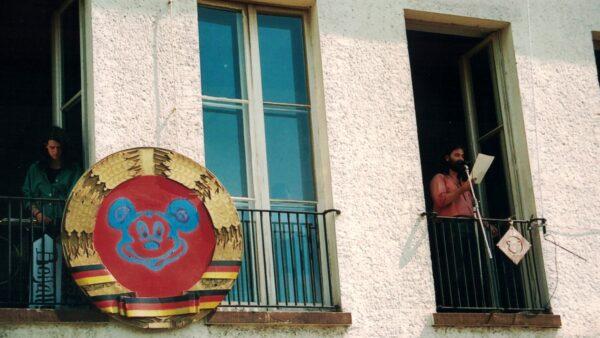 BRN 1991 - Der Monarch ohne Geschäftsbereich, Gregor Kunz, hält die Rede zum Volk - Foto: Christoph Anders