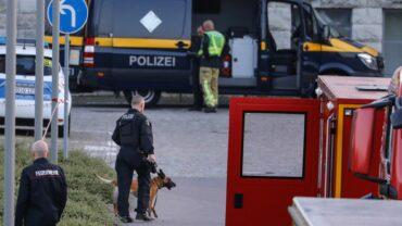 Spezielakräfte und ein Sprengstoffspürhund kamen zum Einsatz. Foto: Tino Plunert
