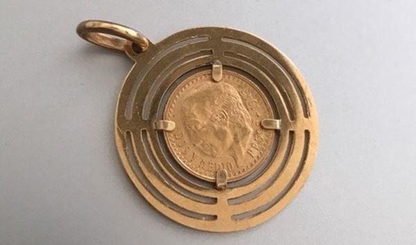 Gefundene Goldmünze