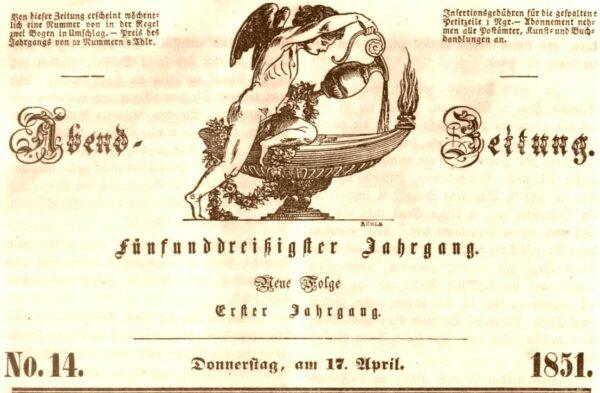 Abendzeitung vom 17. April 1851