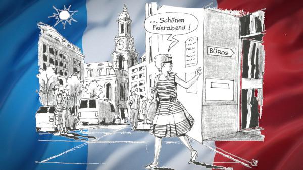 Peps macht Feierabend - Zeichnung: Jean-Pierre Deruelles