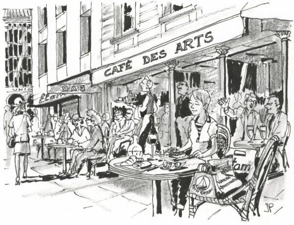 Die Französin Peps in Frankreich - Zeichnung: Jean-Pierre Deruelles