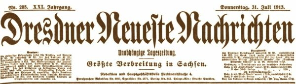 Dresdner Neueste Nachrichten vom Juli 1919