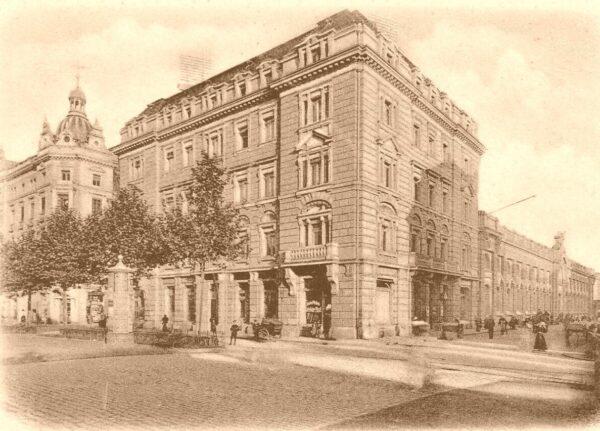Neustädter Markthalle - Postkarte von 1910
