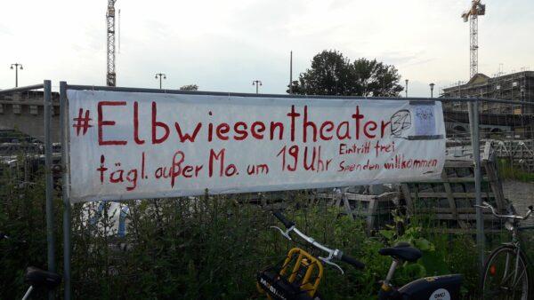 Auch mit dem Mobi-Bike zu erreichen - das Elbwiesentheater - Foto: Jonas Breitner