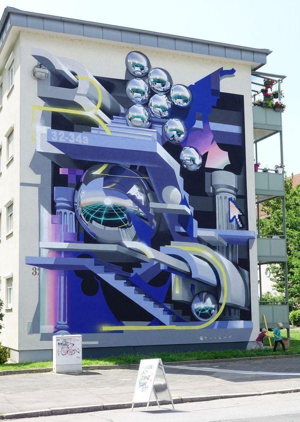 """""""Stairway to Heaven"""" in Mannheim - Mural von Bond Truluv"""