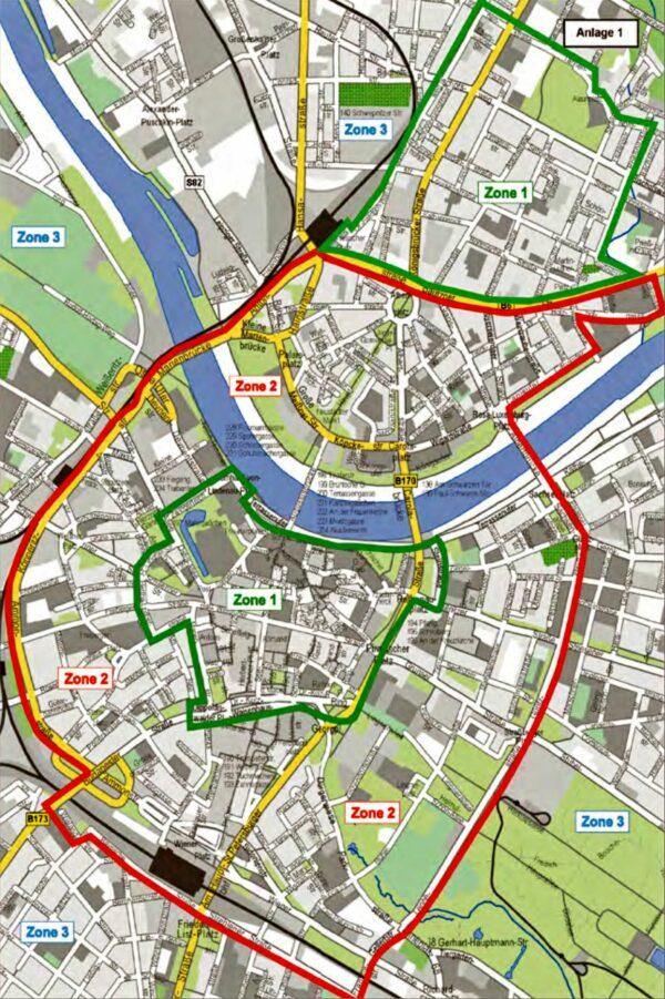 Die neuen Parkgebührenzonen. Grafik: Stadtverwaltung