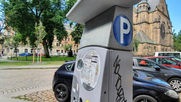 Parkscheinautomat am Martin-Luther-Platz