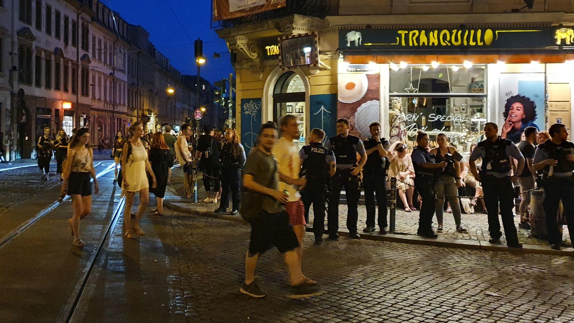 Polizeieinsatz an der Schiefen Ecke