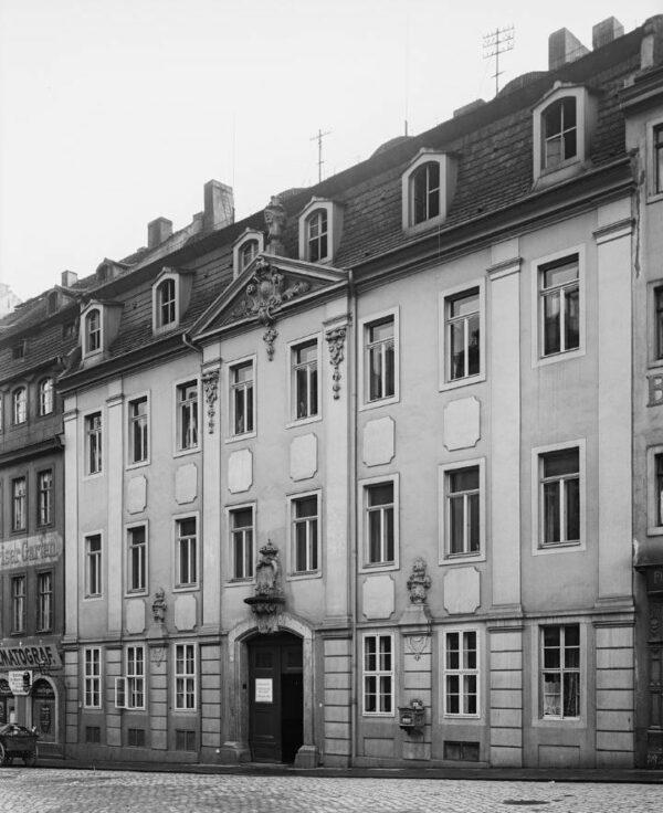 Das Kanzleihaus an der Großen Meißner Straße - Foto von 1907