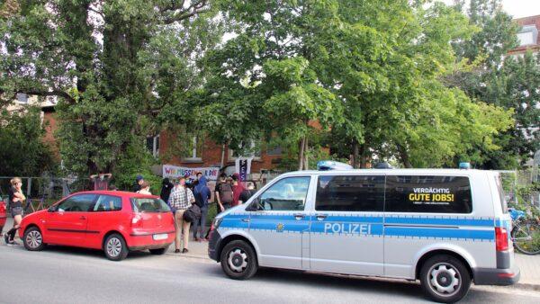 Polizeieinsatz an der Lößnitzstraße