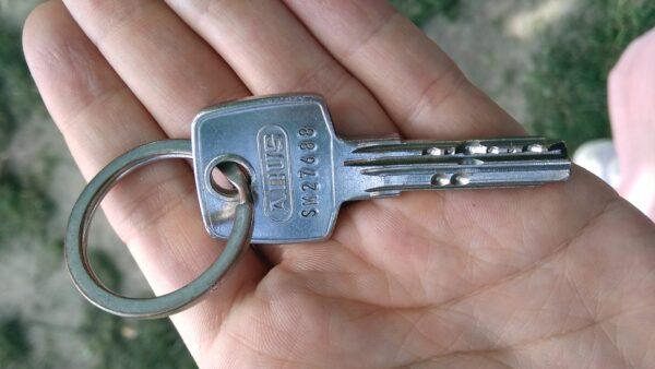 Auf dem Alaunplatz gefundener Schlüssel