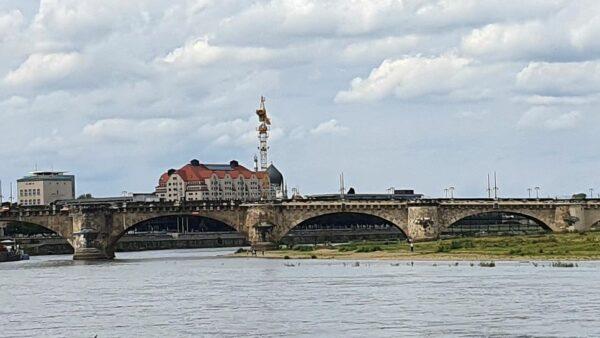 Augustusbrücke über die Elbe