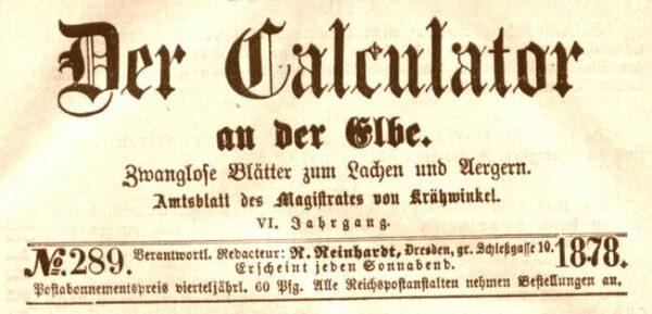 Der Calculator von 1878