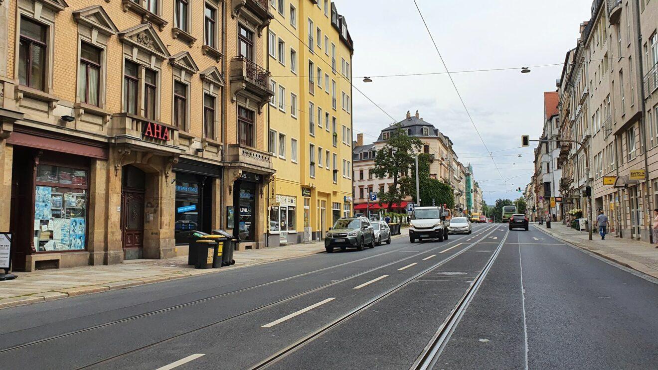 Auf der Bautzner Straße fand im Februar 2020 die Schlägerei statt.