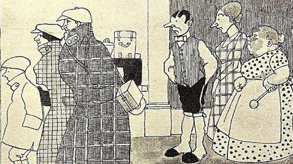 Ferienfreuden, Abschied der Herrschaft, aus Kladderadatsch, August 1913