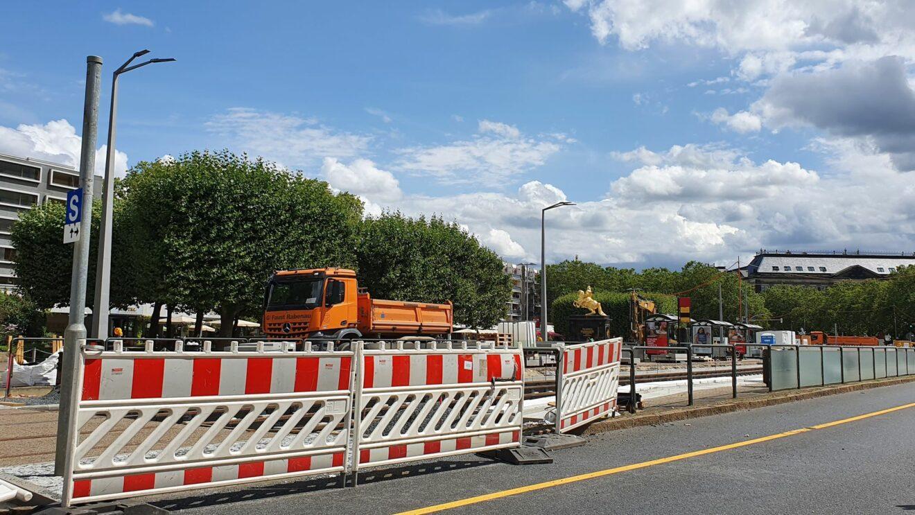 Baustelle an der Großen Meißner Straße