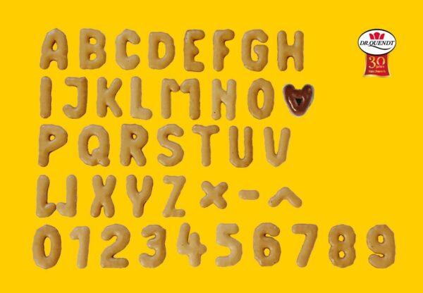 Alphabet in Bio-Qualität
