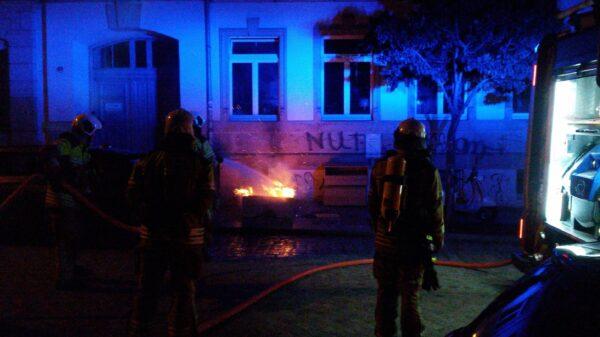 Feuerwehr im Einsatz auf der Sebnitzer Straße