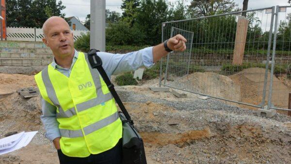 Andreas Neukirch: Vier Wochen lang war der Betriebshof Trachenberge vom Netz abgekoppelt. Foto: W. Schenk