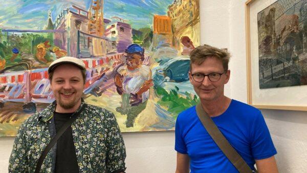 Künstlertandem des Künstlerbundes - Moritz Jason Wippermann und Jörn Diederichs - Foto: Doris Titze