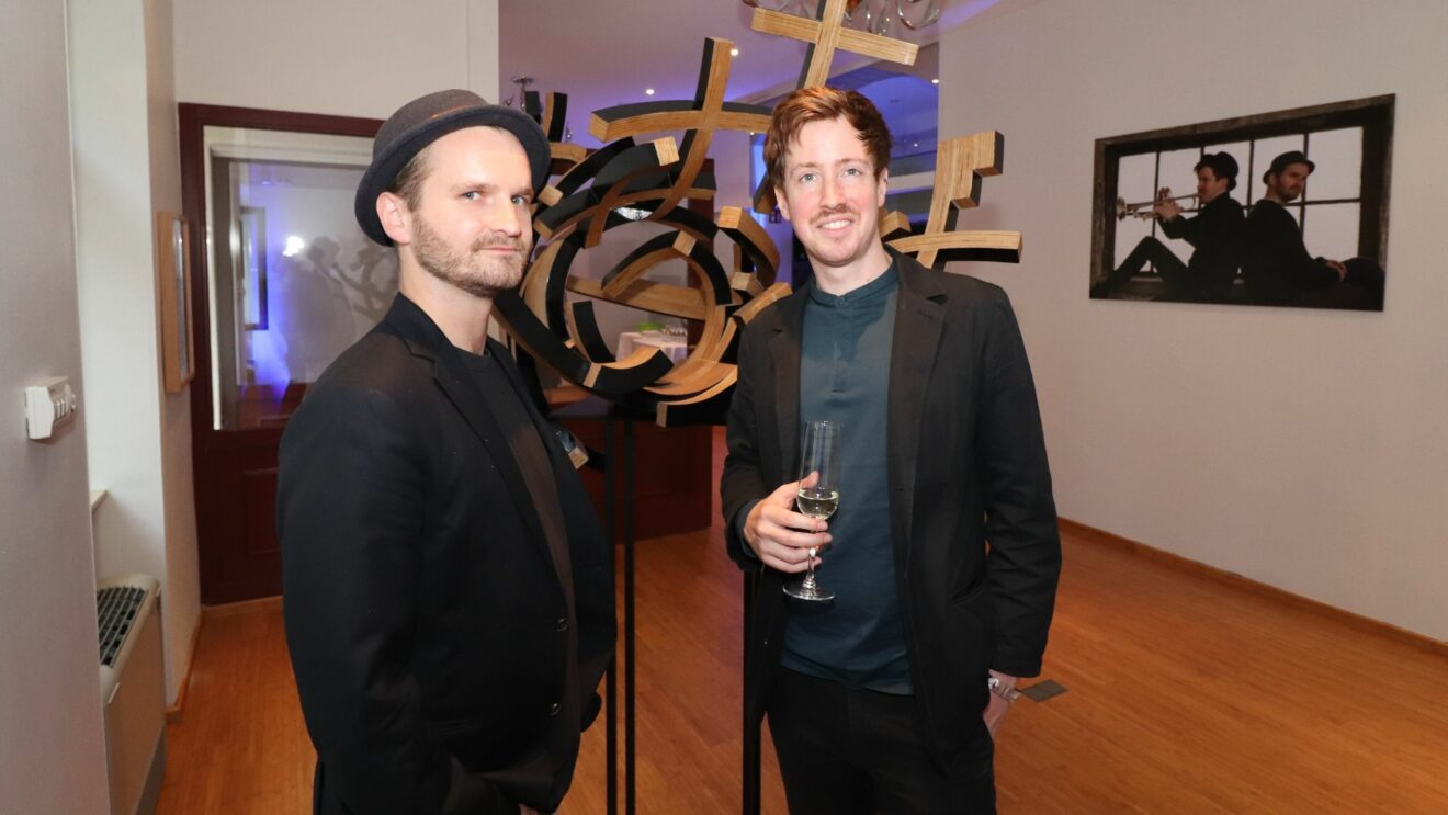 Björn Helget und Nils Heinrich in der neuen Galerie TheHelHeinArtCollective
