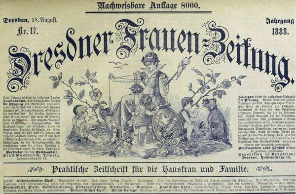 Dresdner Frauenzeitung von 1888