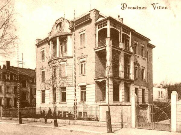 Villa Arndtstraße - Postkarten von 1907