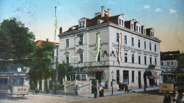 Reichskrone, Postkarte von 1914