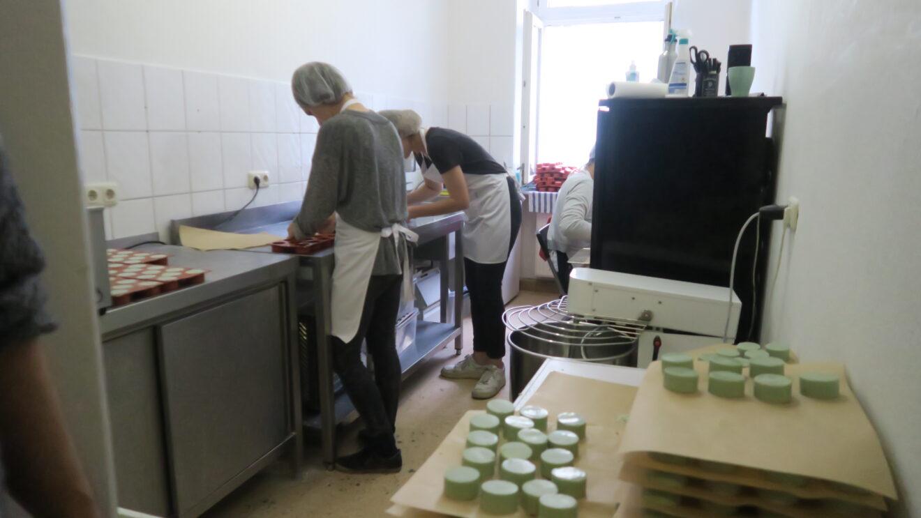 Seifenproduktion in der Fritz-Hoffmann-Straße