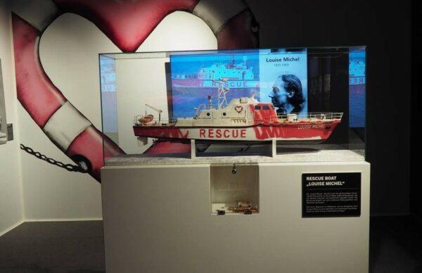 "Nachbildung des Rettungsbootes ""Louise Michel"""