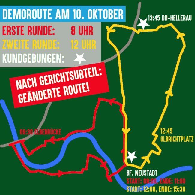 Demo-Routen am 10. Oktober