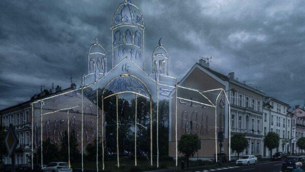 Visualisierung der Synagoge in Františkovy Lázně (Franzensbad)