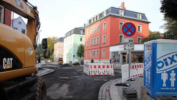 Baustelle an der Buchen- und Hechtstraße